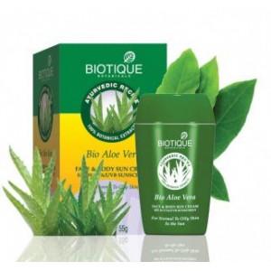 """Bio Aloe Vera (Био Алоэ Вера) Солнцезащитный крем для лица и тела SPF 30 UVA / UVB """"Biotique"""""""